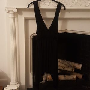 Black Deep V-Neck Backless Party Dress Bias Cut